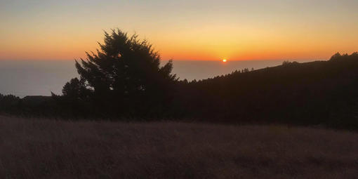 Mount Tamalpais at sunset