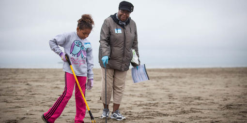 Volunteers at Coast Cleanup Day