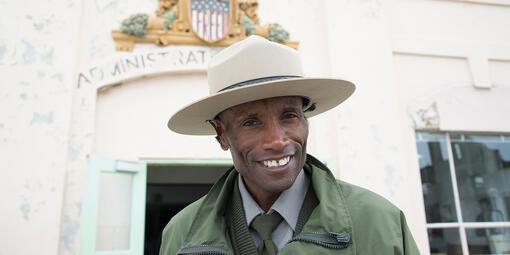 Ranger Benny Batom at Alcatraz