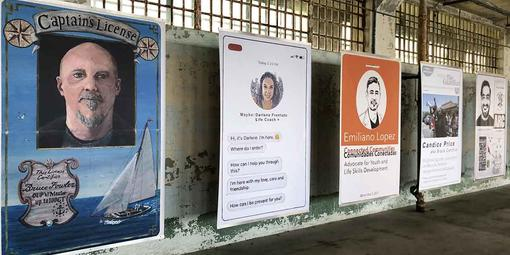 Bruce Fowler's Future ID is on display with others at Alcatraz through October.