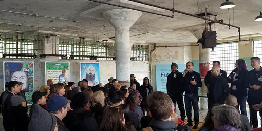 Future IDs project collaborators at the 'Day of Public Programs' at Alcatraz on Feb. 16, 2019.