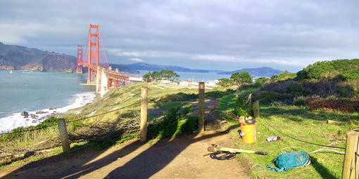 New fencing at the Presidio Bluffs helps protect visitors and sensitive habitats.