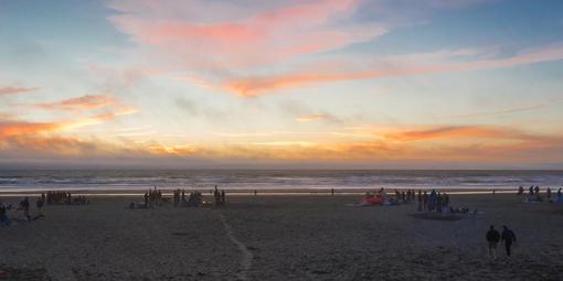 Fire pits at Ocean Beach