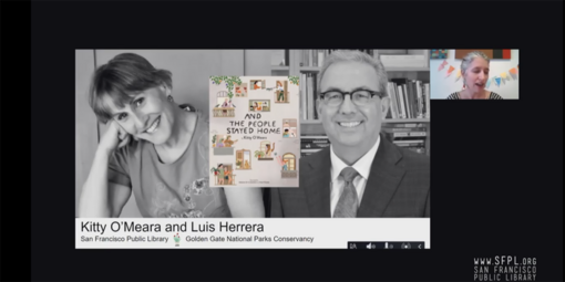 """Kitty O'Meara and Luis Herrera read """"And the People Stayed Home"""""""