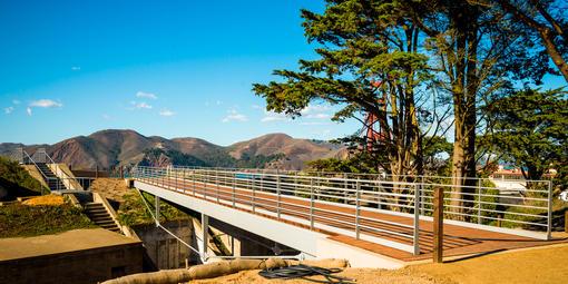 Presidio Coastal Trail Bike/Pedestrian Bridge