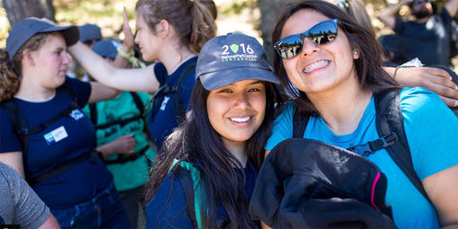 Smiling youth participants during the centennial Packing the Parks event