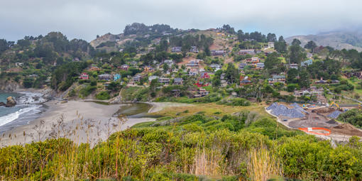 Homes around Muir Beach