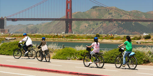 Biking at Crissy Field