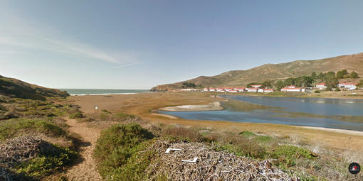 Screenshot of Rodeo Beach on Google Street View