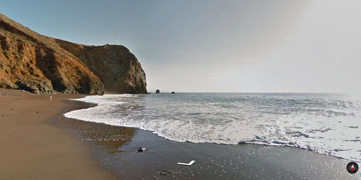 Screenshot of Tennessee Valley Beach in the Marin Headlands