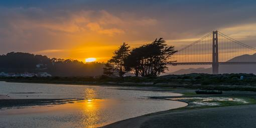 Sunset over Crissy Field Marsh