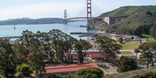 View overlooking Fort Baker and the Golden Gate