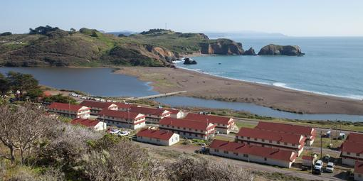 View over Fort Cronkhite and Rodeo Beach