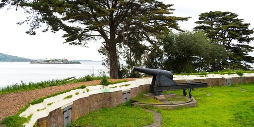 Gun at Black Point Battery in Fort Mason