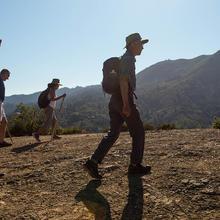Members of One Tam take a guided walk