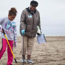 Volunteers at Coast Cleanup Day