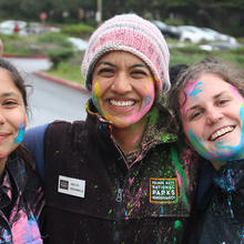 volunteer; Lands End; Holi