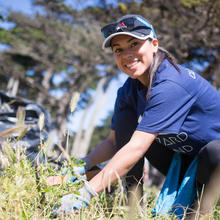 Volunteer at work in Lands End
