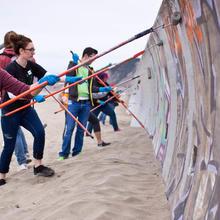 Golden Gate Maintenance Volunteers at Ocean Beach