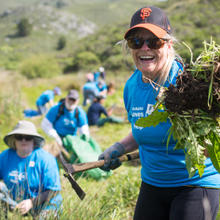 Volunteers at Muir Beach