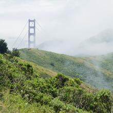Low clouds cloak the Marin Headlands