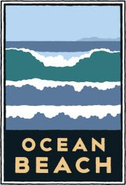 Michael Schwab graphic of the surf at Ocean Beach