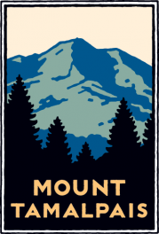 Schwab image of Mount Tamalpais rising above the trees