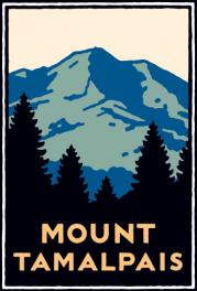 Schwab image of Mount Tamalpais rising above the trees