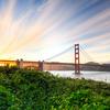 Shot of Golden Gate Bridge from Crissy Field Area